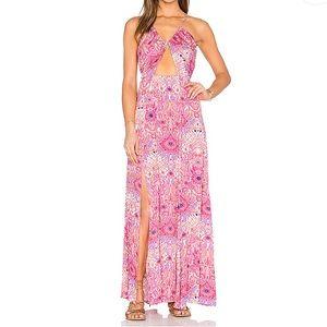 Somedays lovin cutout maxi dress with slits